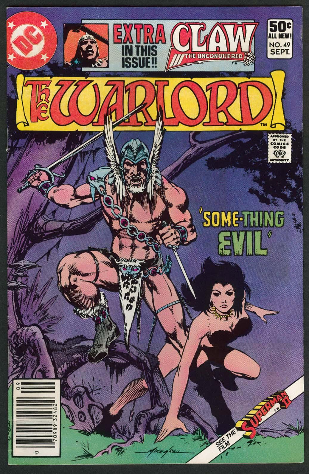 WARLORD #49 DC comic book 9 1981