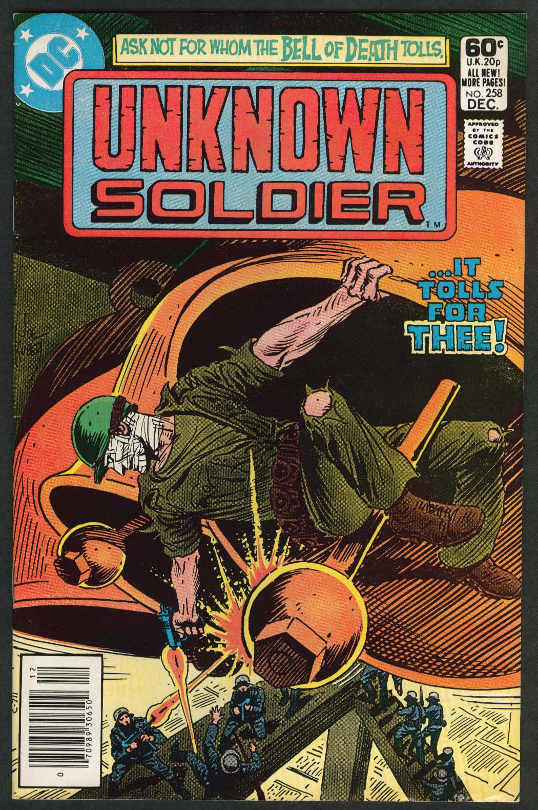 Image for UNKNOWN SOLDIER #258 DC Comic Book 12 1981 Lego Expert Builder ad