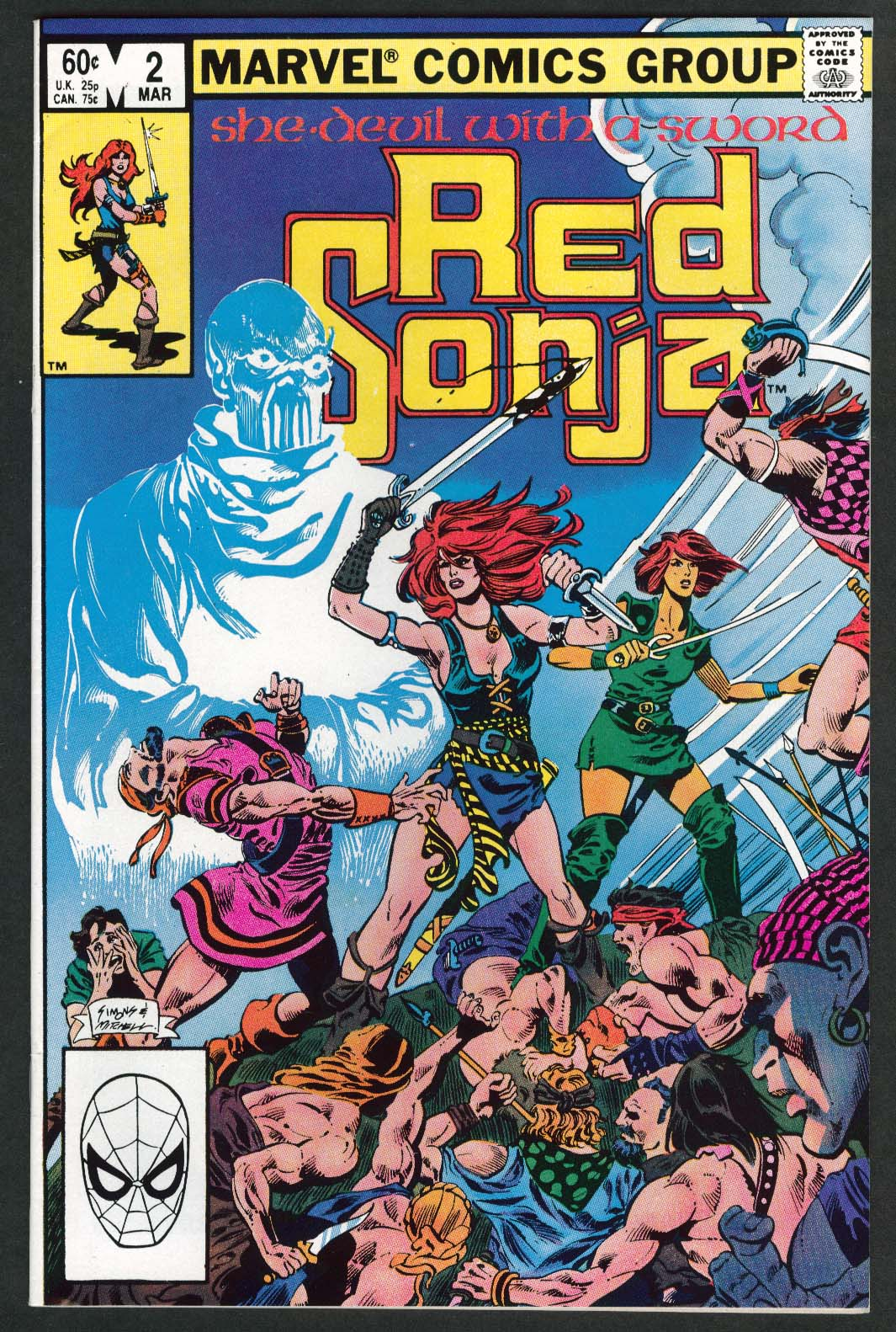RED SONJA #2 Marvel comic book 3 1983
