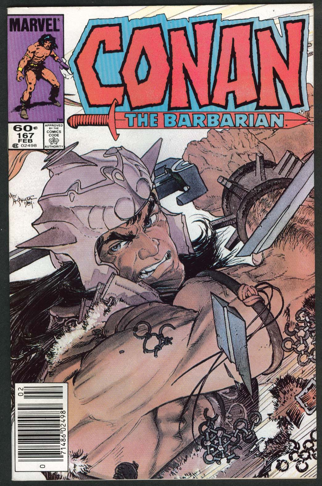 Image for CONAN the BARBARIAN #167 Marvel comic book 2 1985