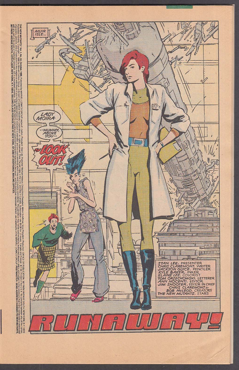 Image for The NEW MUTANTS #44 Marvel comic book 10 1985