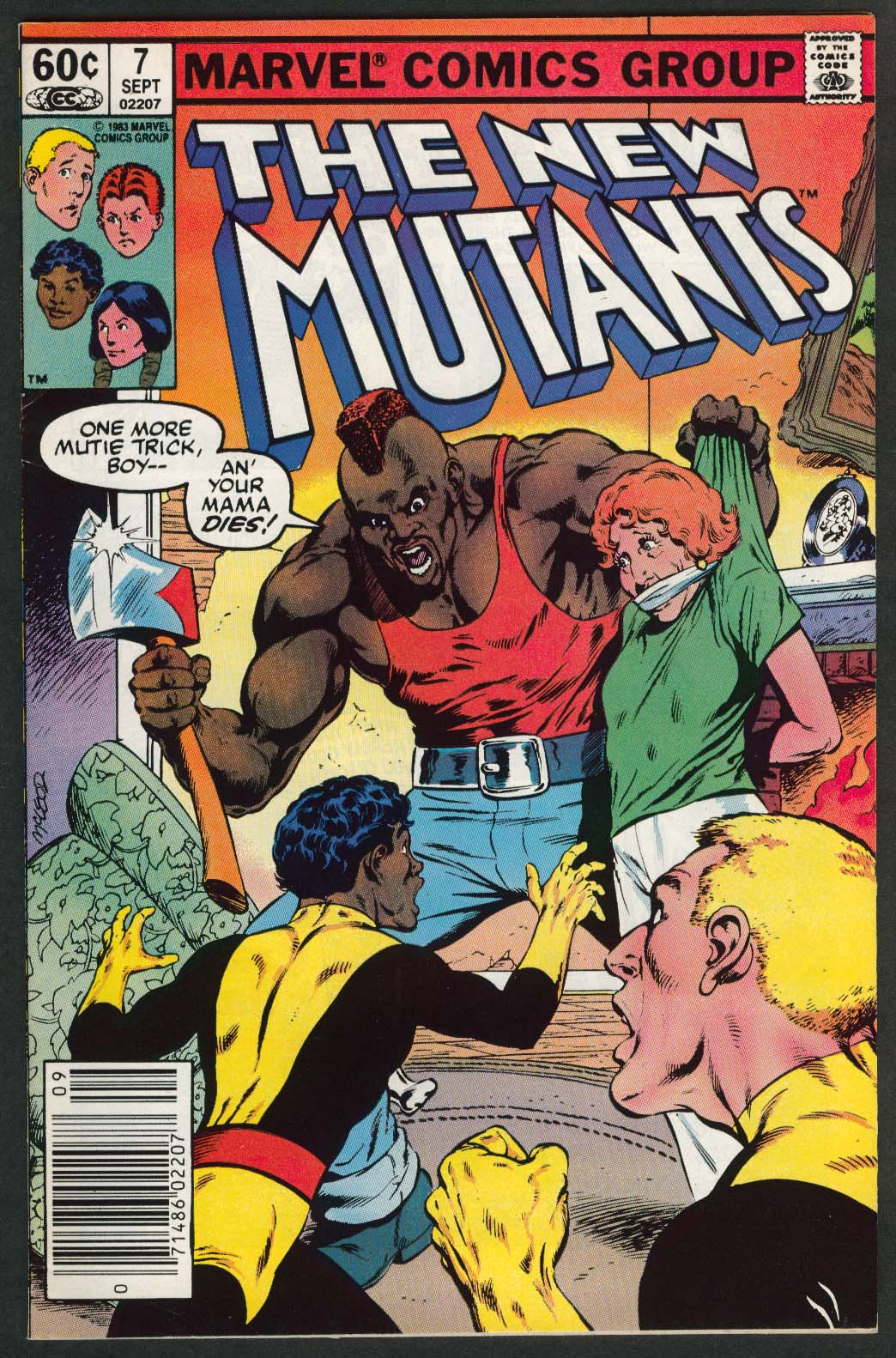 NEW MUTANTS #7 Marvel comic book 7 1983