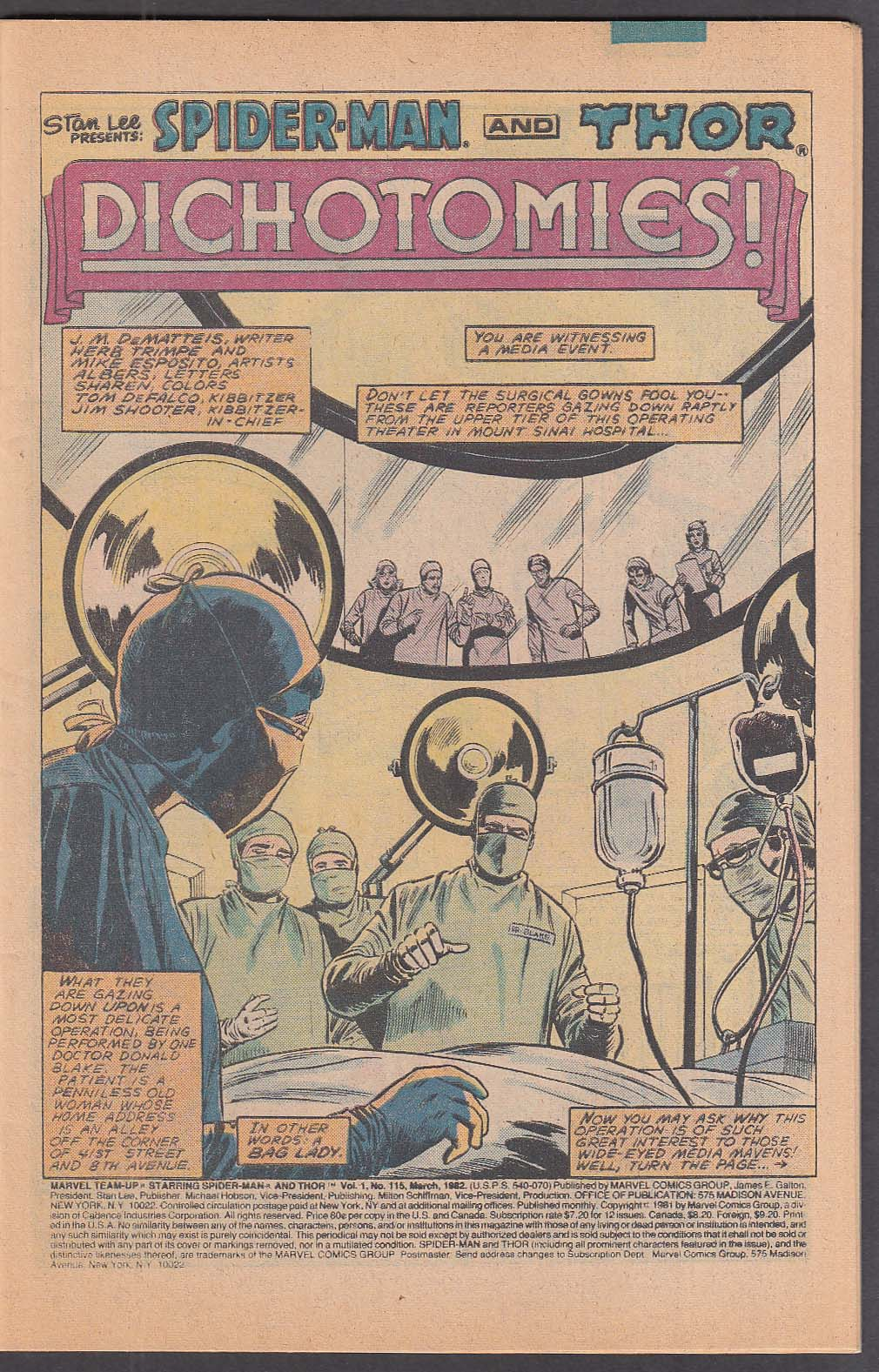 Image for MARVEL TEAM-UP #115 Spider-Man & Thor comic book 3 1982