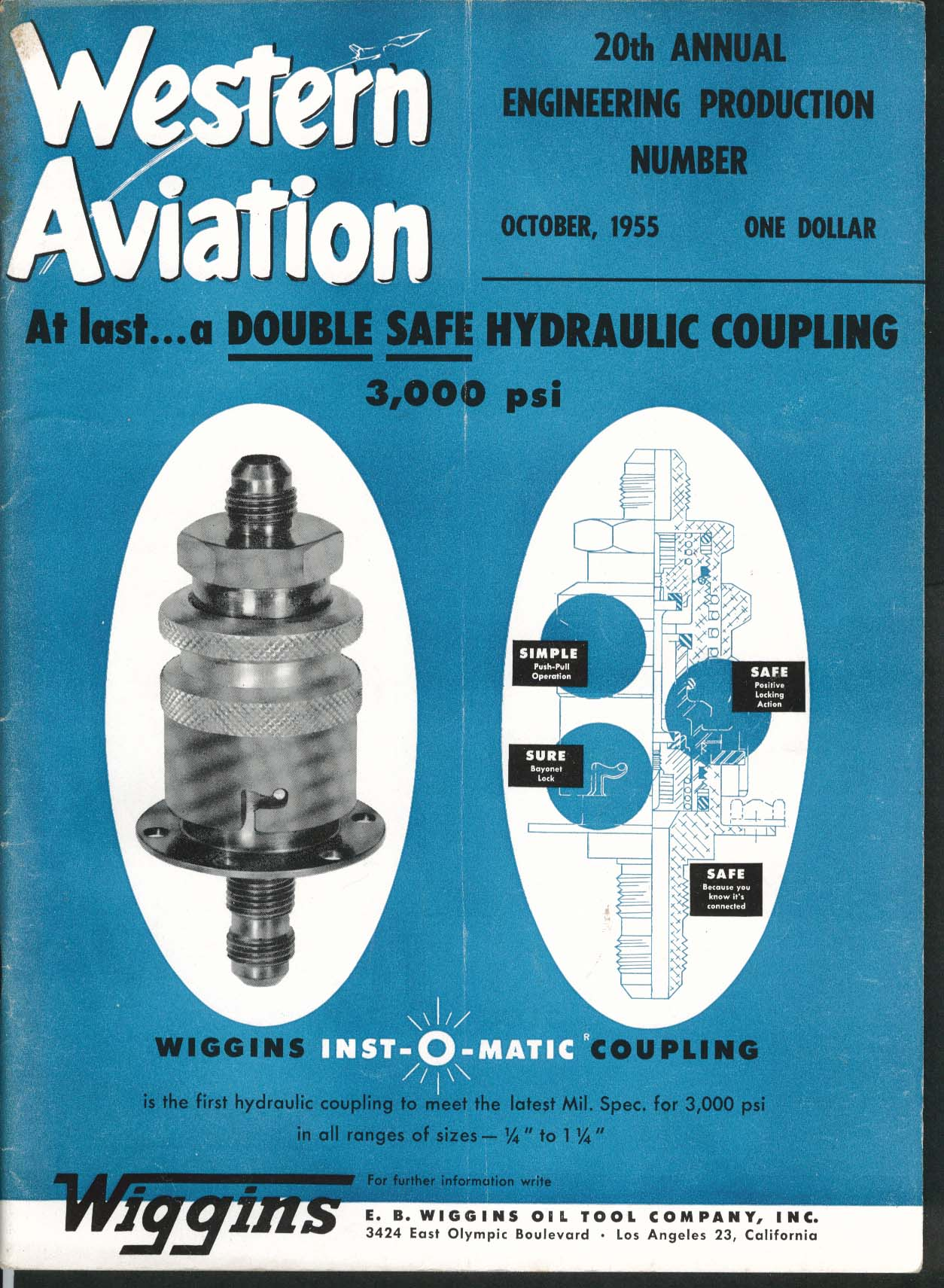 WESTERN AVIATION DC-8 Hydraulic Couplings 10 1955