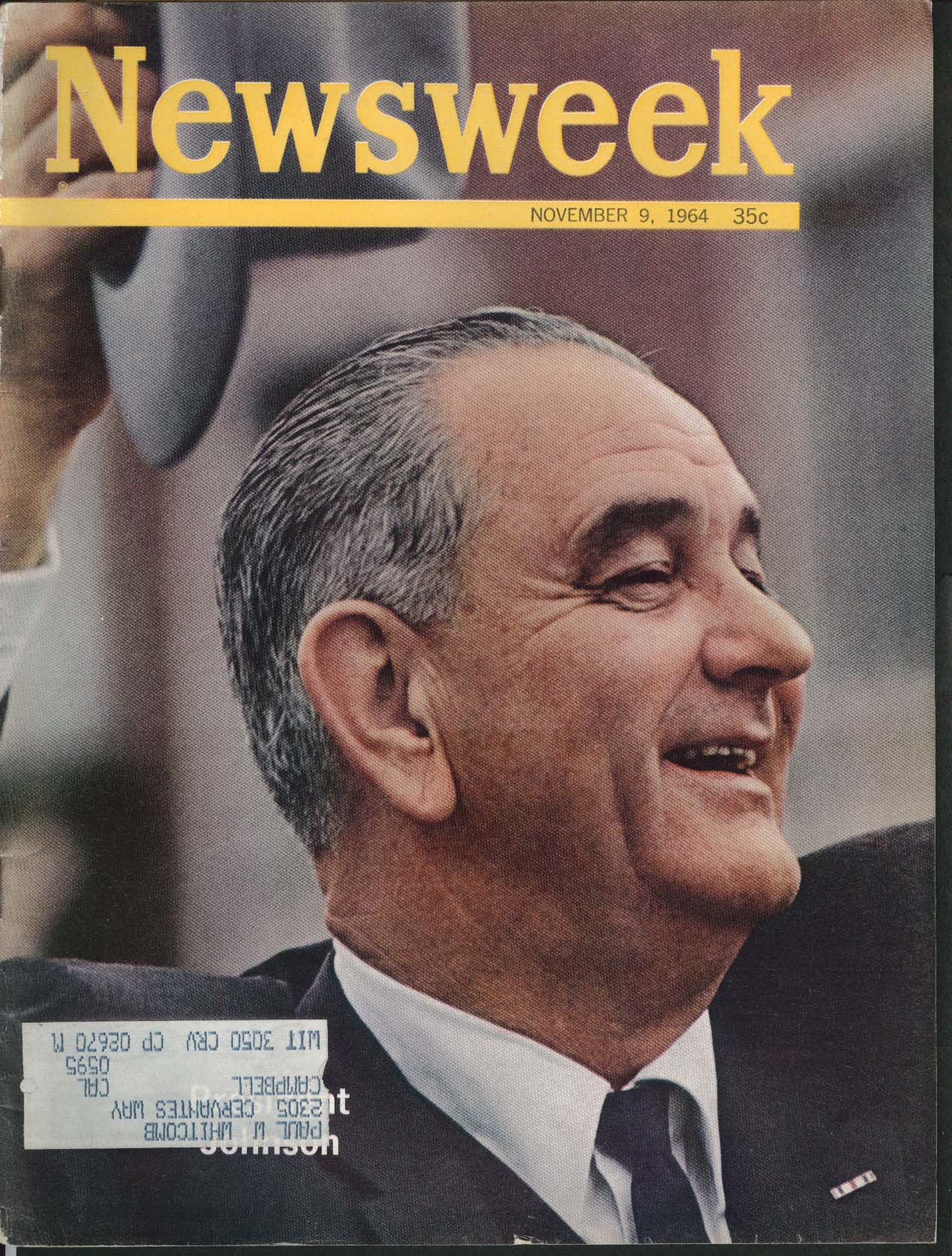 NEWSWEEK Lyndon Johnson Election IBM 7010 11/9 1964
