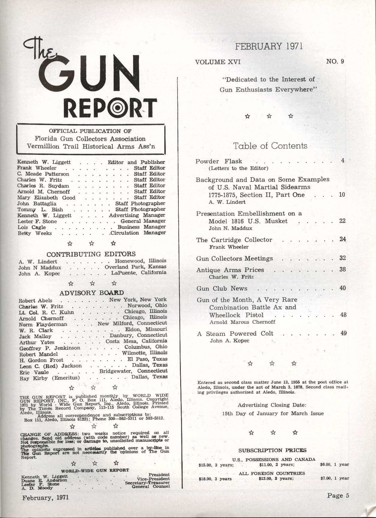 GUN REPORT Smith Percival's Pill Lock Pistol .29 1816 Musket Wheellock 2 1971