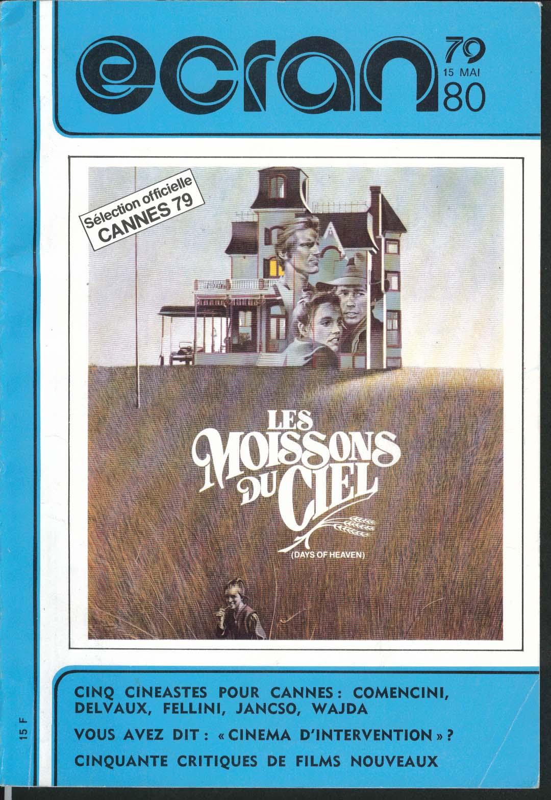 ECRAN 79-80 Days of Heaven Terrence Malick ++ 5/15 1979