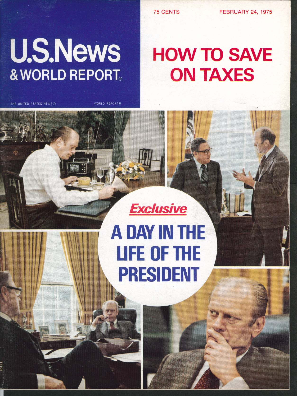 US NEWS & WORLD REPORT Gerald Ford Debt ++ 2/24 1975