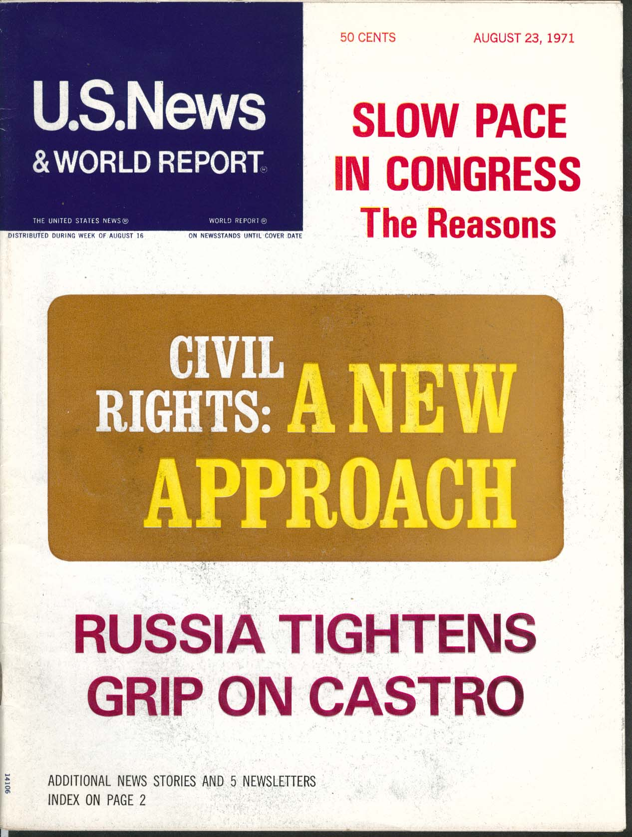 US NEWS & WORLD REPORT Civil Rights Castro ++ 8/23 1971