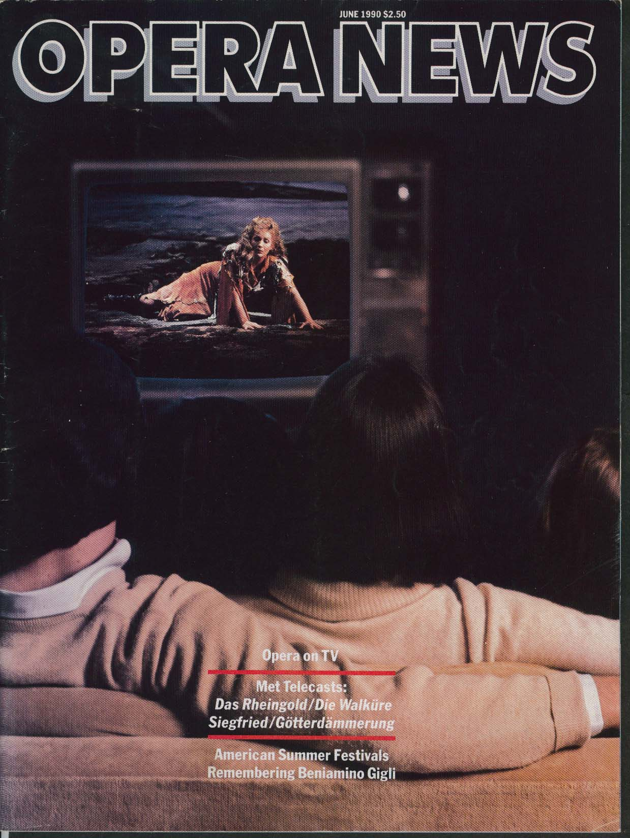 OPERA NEWS Beniamino Gigli Met Telecasts ++ 6 1990