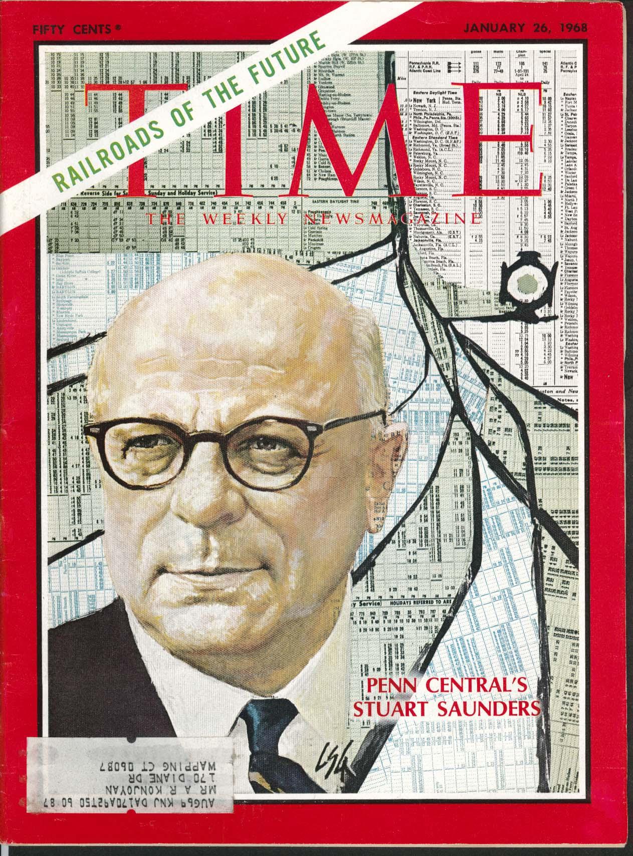 TIME Penn Central Stuart Saunders Nixon ++ 1/26 1968