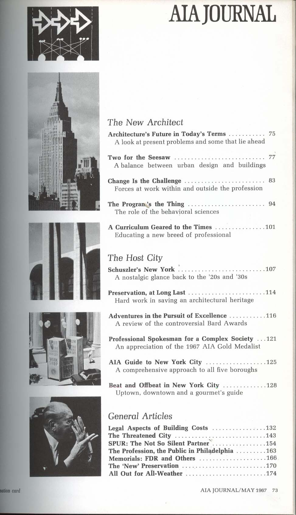 AIA JOURNAL Schuszler New York City Bard Awards 5 1967