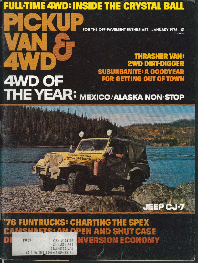 PICKUP VAN 4WD Thrasher Dirt Digger Crystal Ball 1 1976
