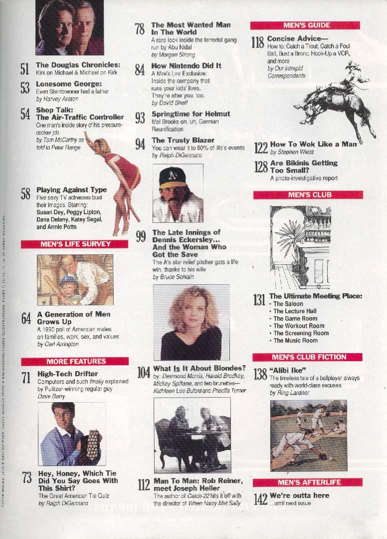 MEN'S LIFE Nintendo Michael Kirk Douglas ++ 10/11 1990