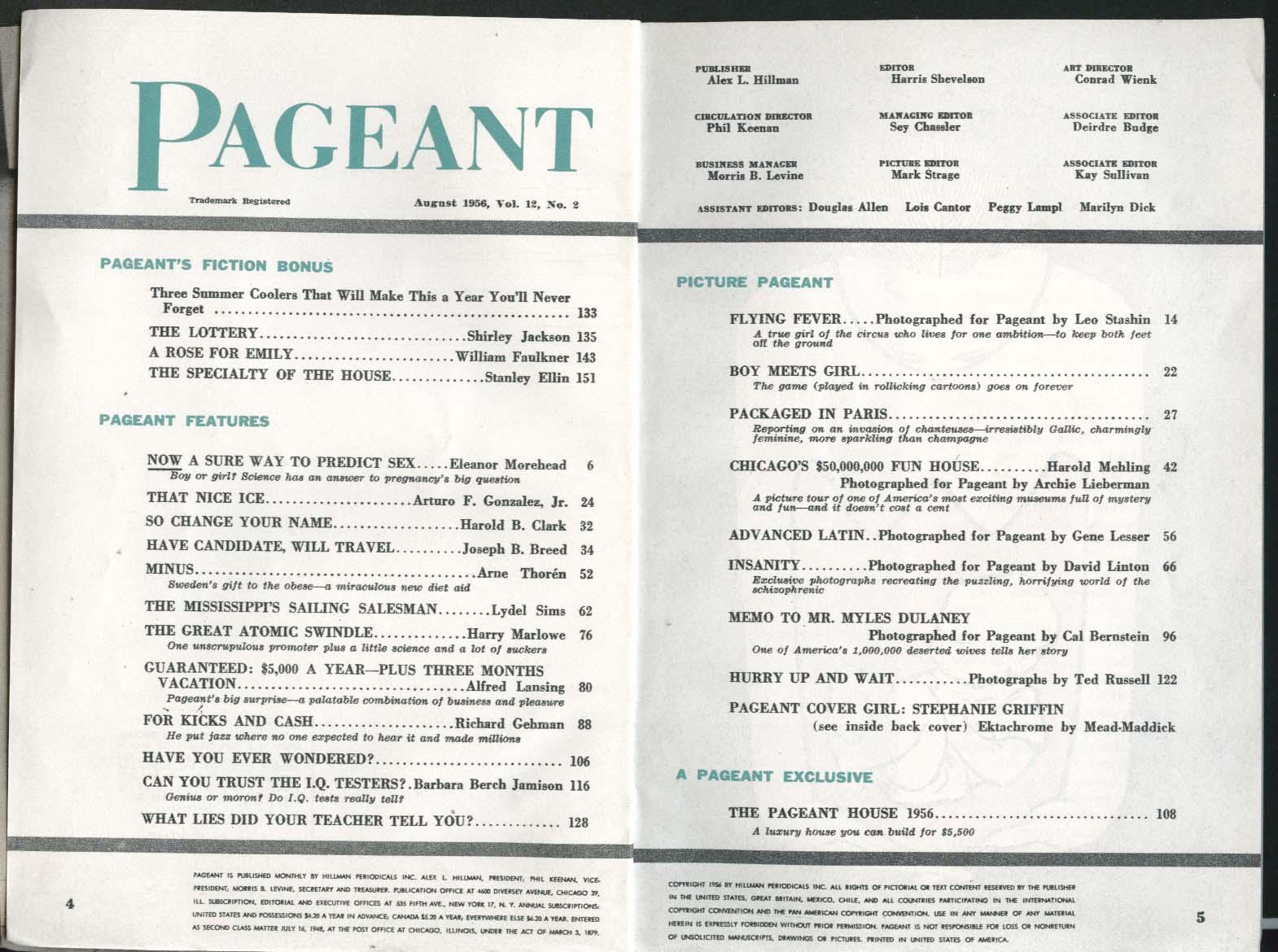 PAGEANT Norman Granz Dancer Tybee Afra ++ 8 1956