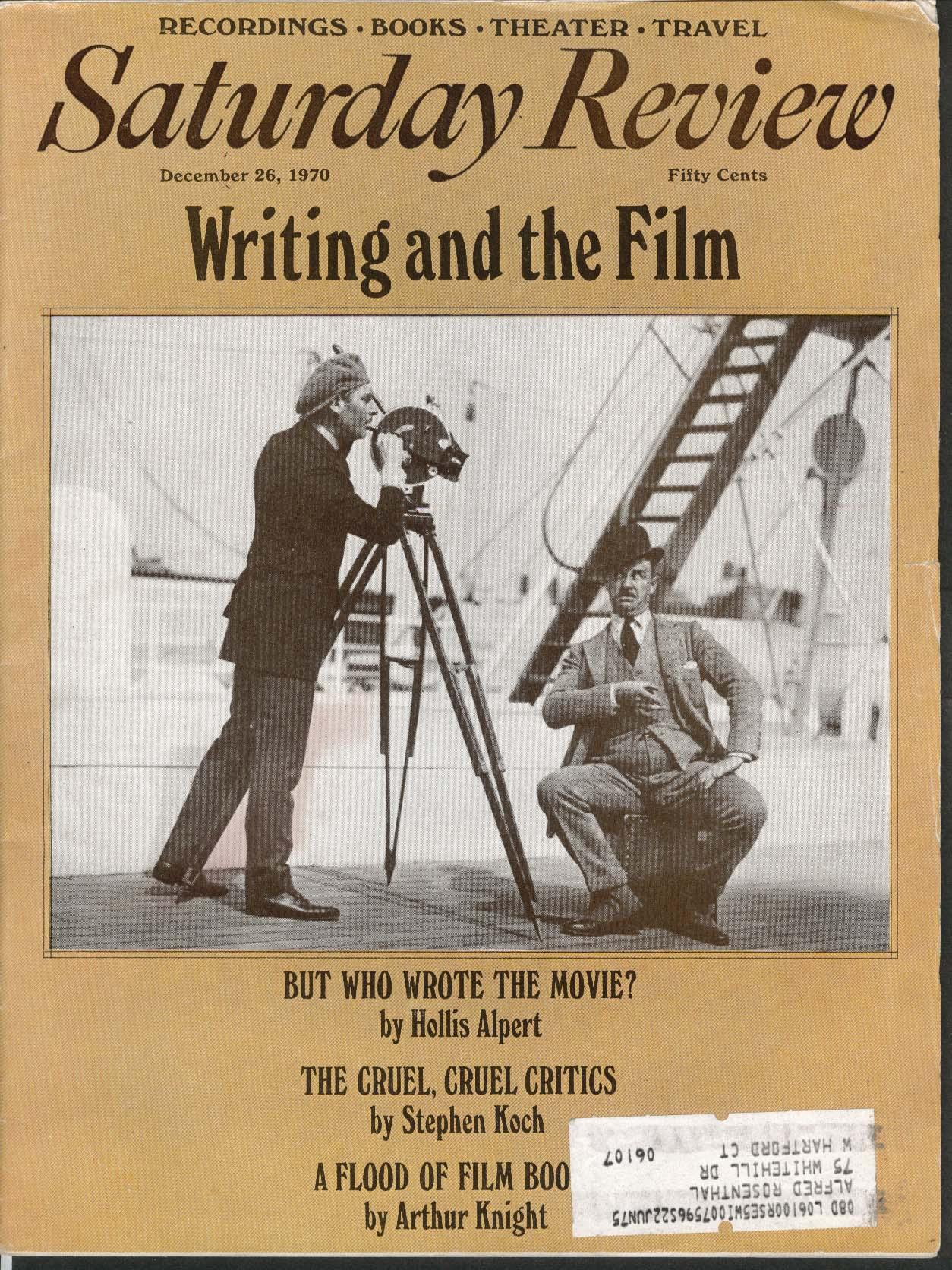 SATURDAY REVIEW Writing Film Hollis Alpert Stephen Koch Arthur Knight 12/26 1970