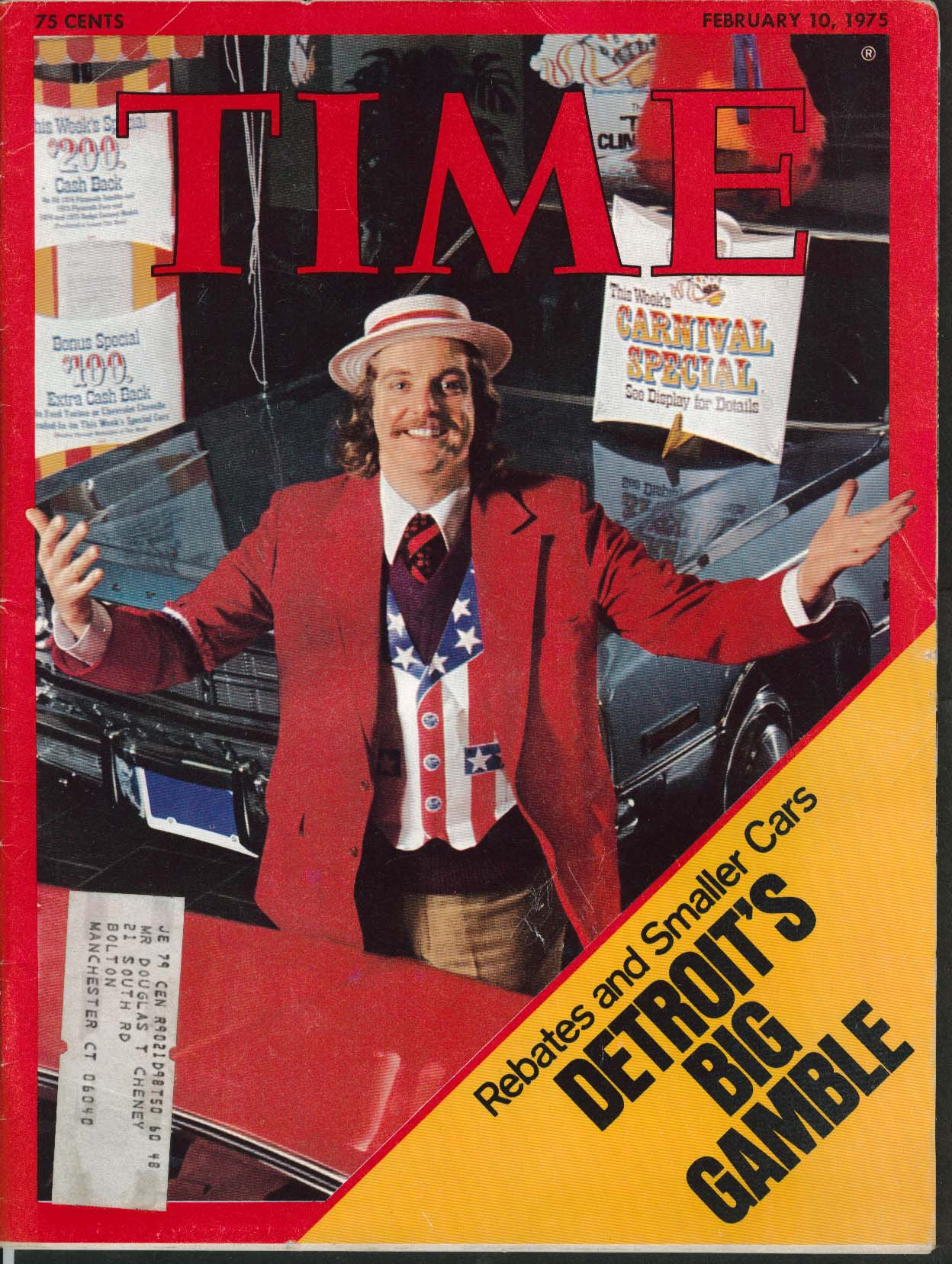 TIME Gerald Ford Budget Richard Nixon Domestic Spying Idi Amin ++ 2/10 1975