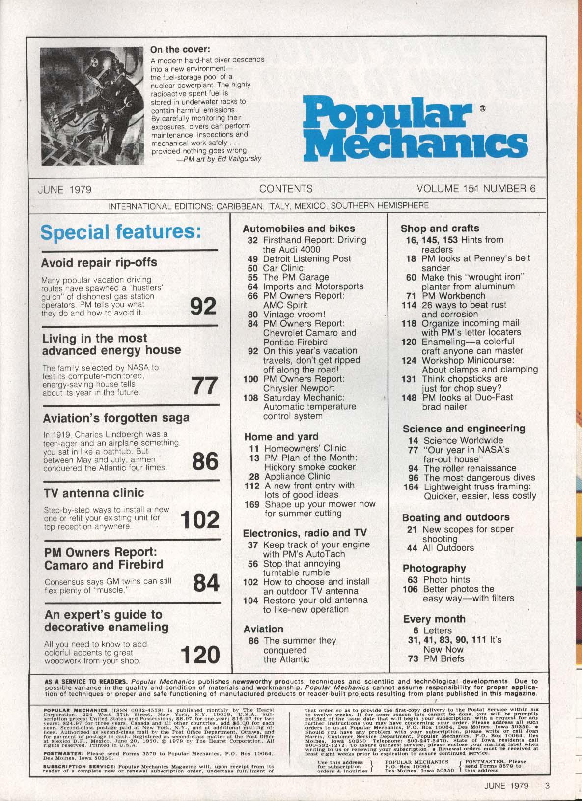 POPULAR MECHANICS Audi 4000 test; Firebird Camaro TV Antennas 6 1979