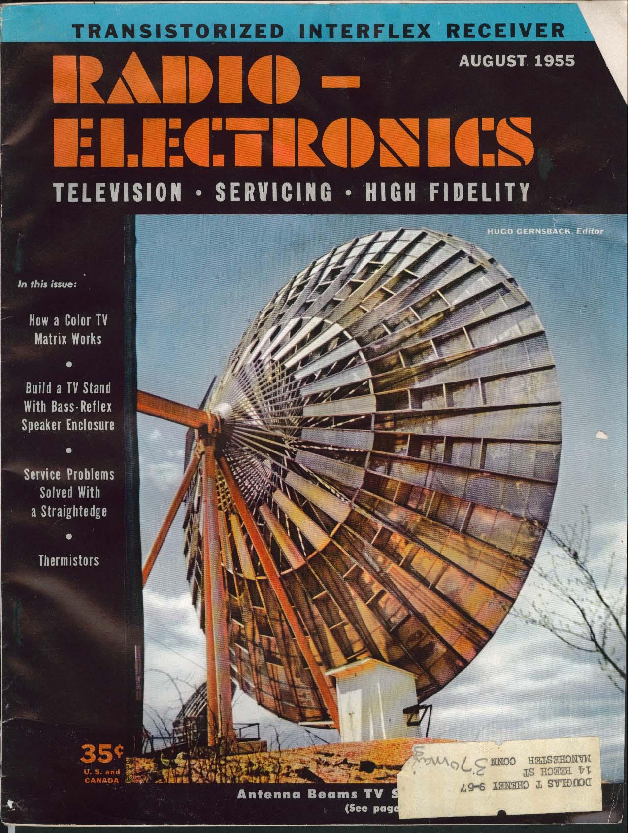 RADIO-ELECTRONICS Color TV Bass-Reflex Speaker Enclosure Thermistor ++ 8 1955