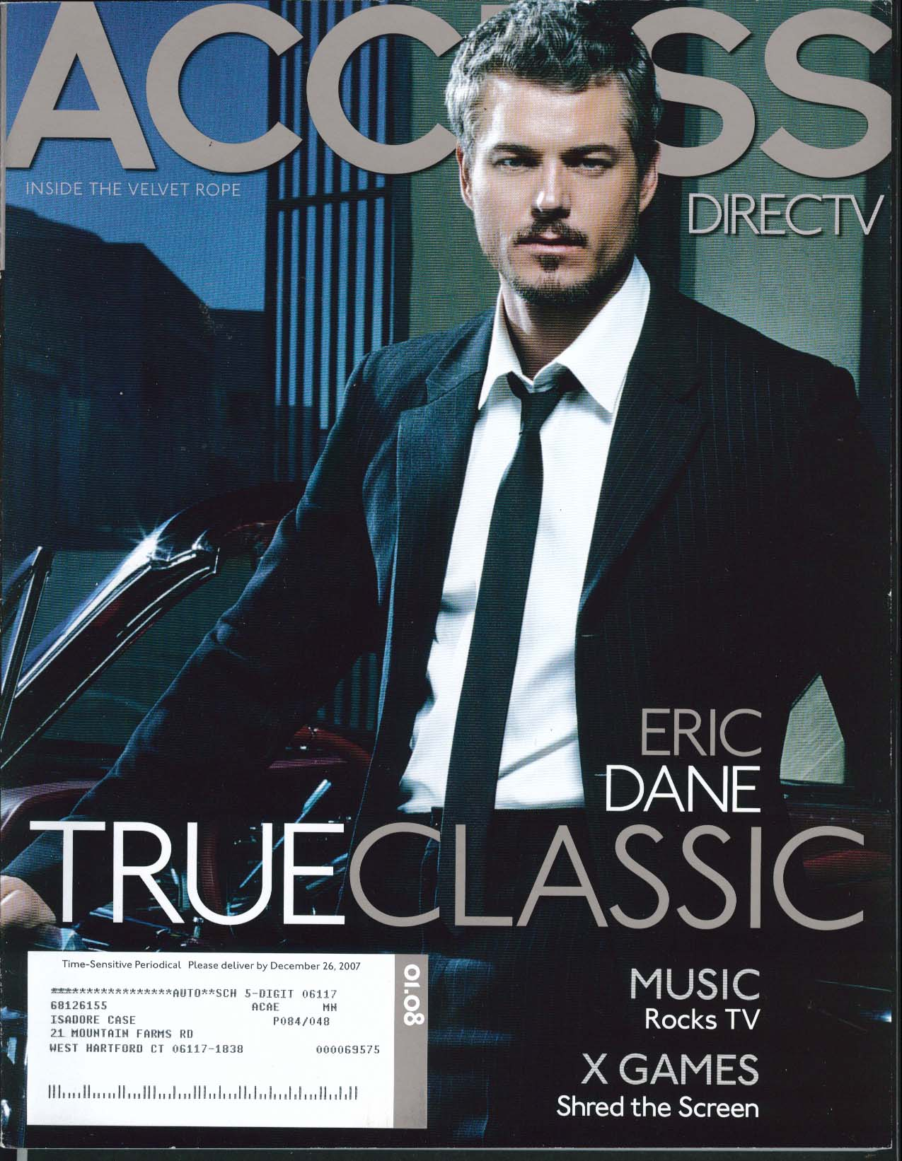 ACCESS DirecTV Eric Dane Martin Scorsese Rebecca Romijn 1 2008