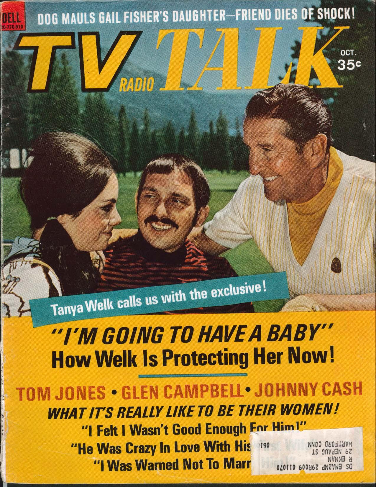 TV RADIO TALK Tanya Welk Tom Jomes Glen Campbell Johnny Cash 10 1969