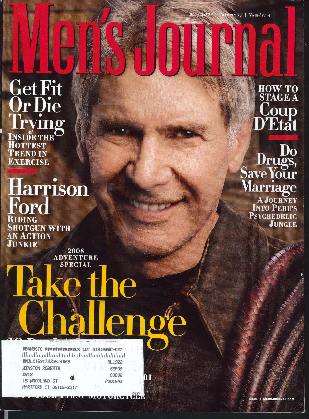 MEN'S JOURNAL Harrison Ford Tommy Caldwell Bert Jones Bucky McMahon Peru 5 2008