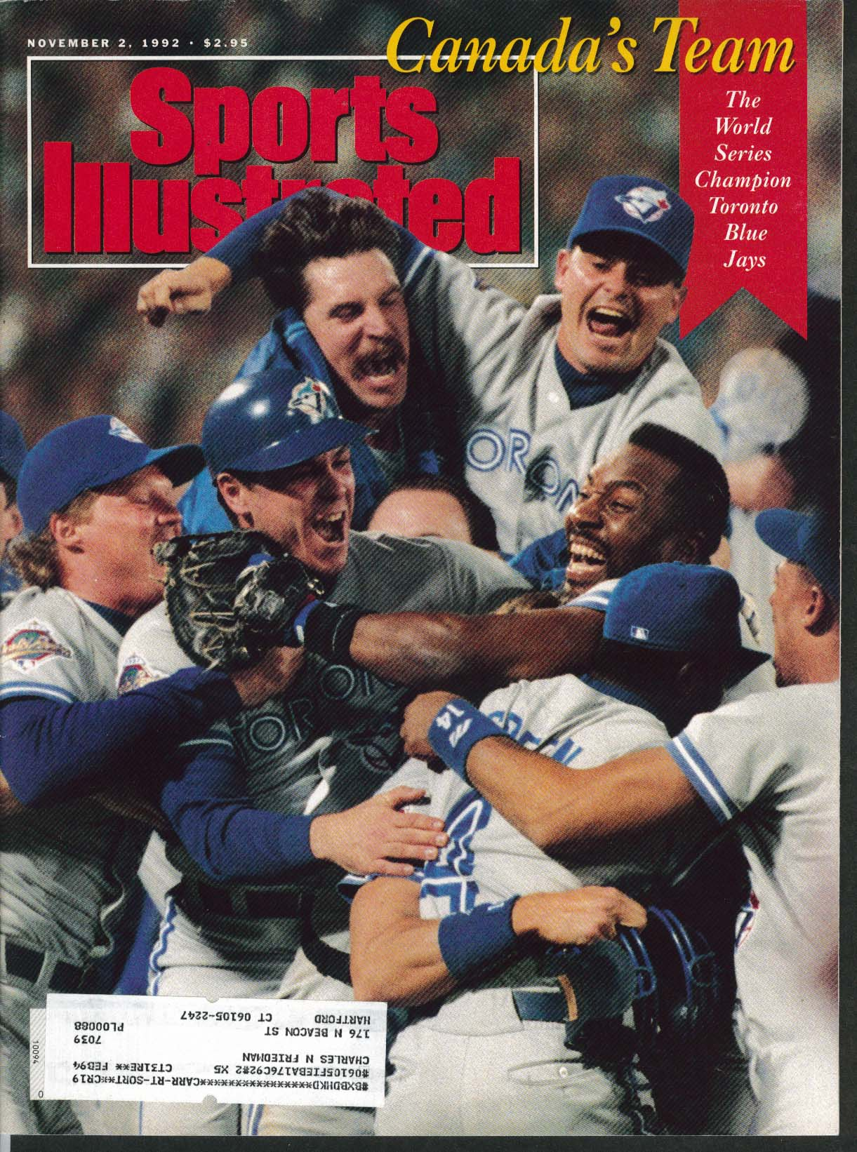 SPORTS ILLUSTRATED Dave Winfield George Benton Bill Walsh New England 11/2 1992