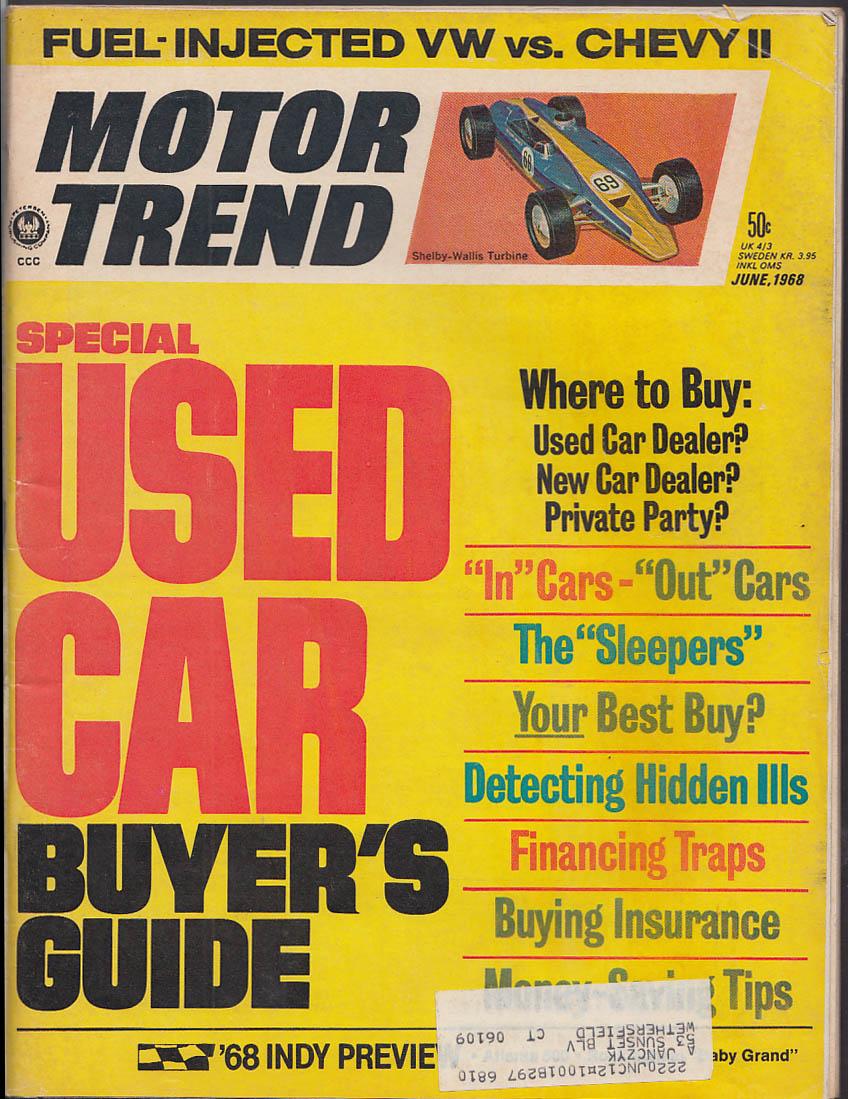 MOTOR TREND Fuel-Injected Volkswagen Chevy II Mercedes 300 SEL Javelin 6 1968