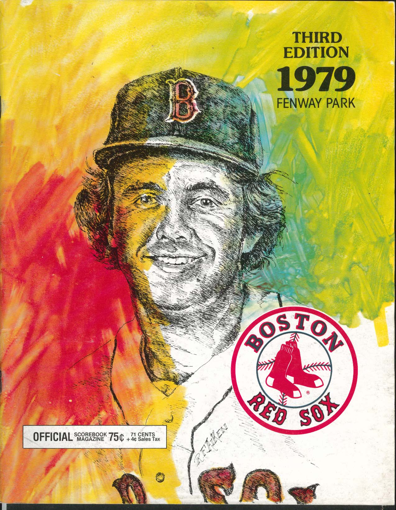 Boston Red Sox Official Scorebook Third Edition 1979 Fenway Park