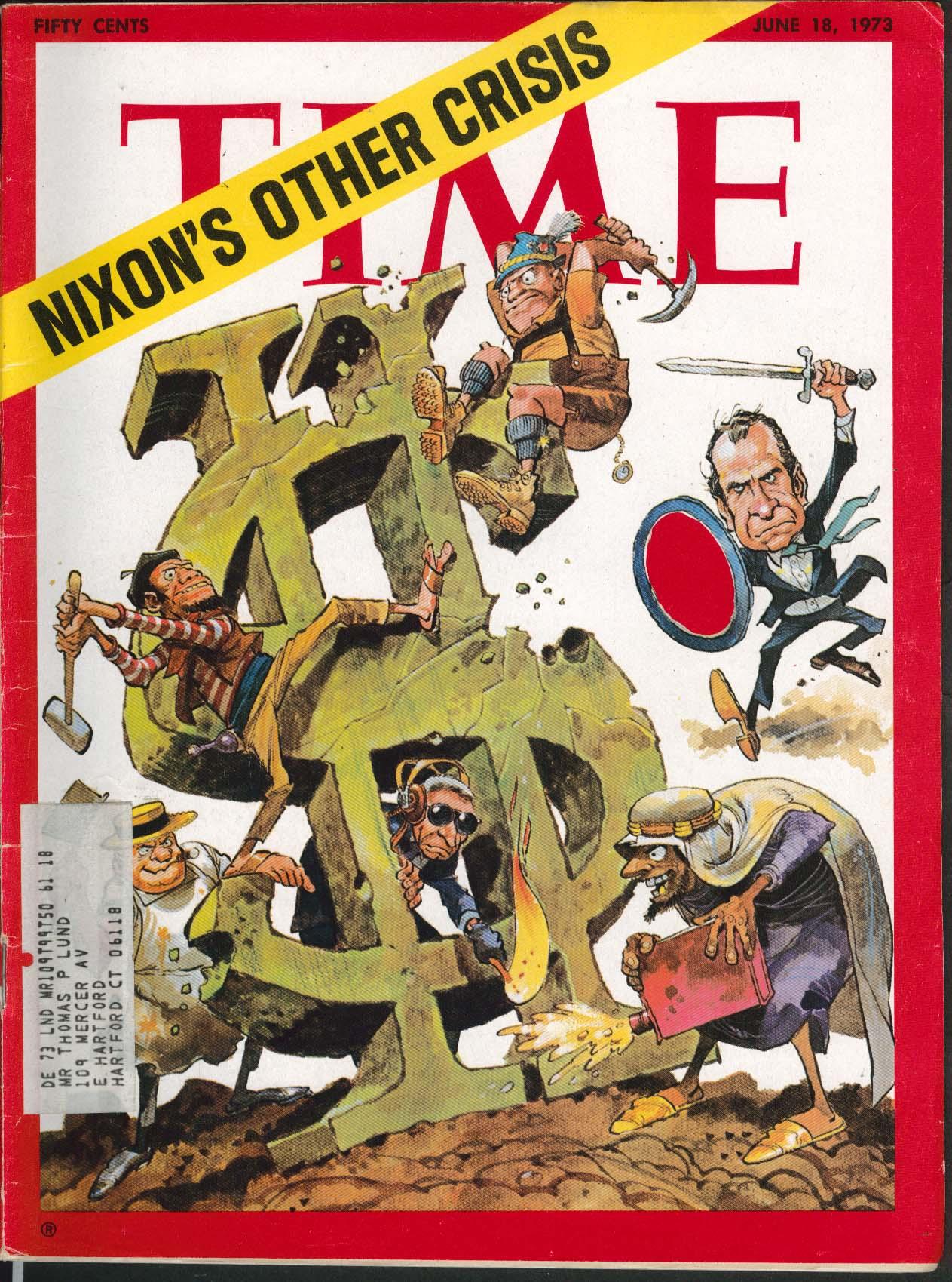 TIME Nixon Jack Davis Watergate Haldeman Ehrlichman National Security 6/18 1973