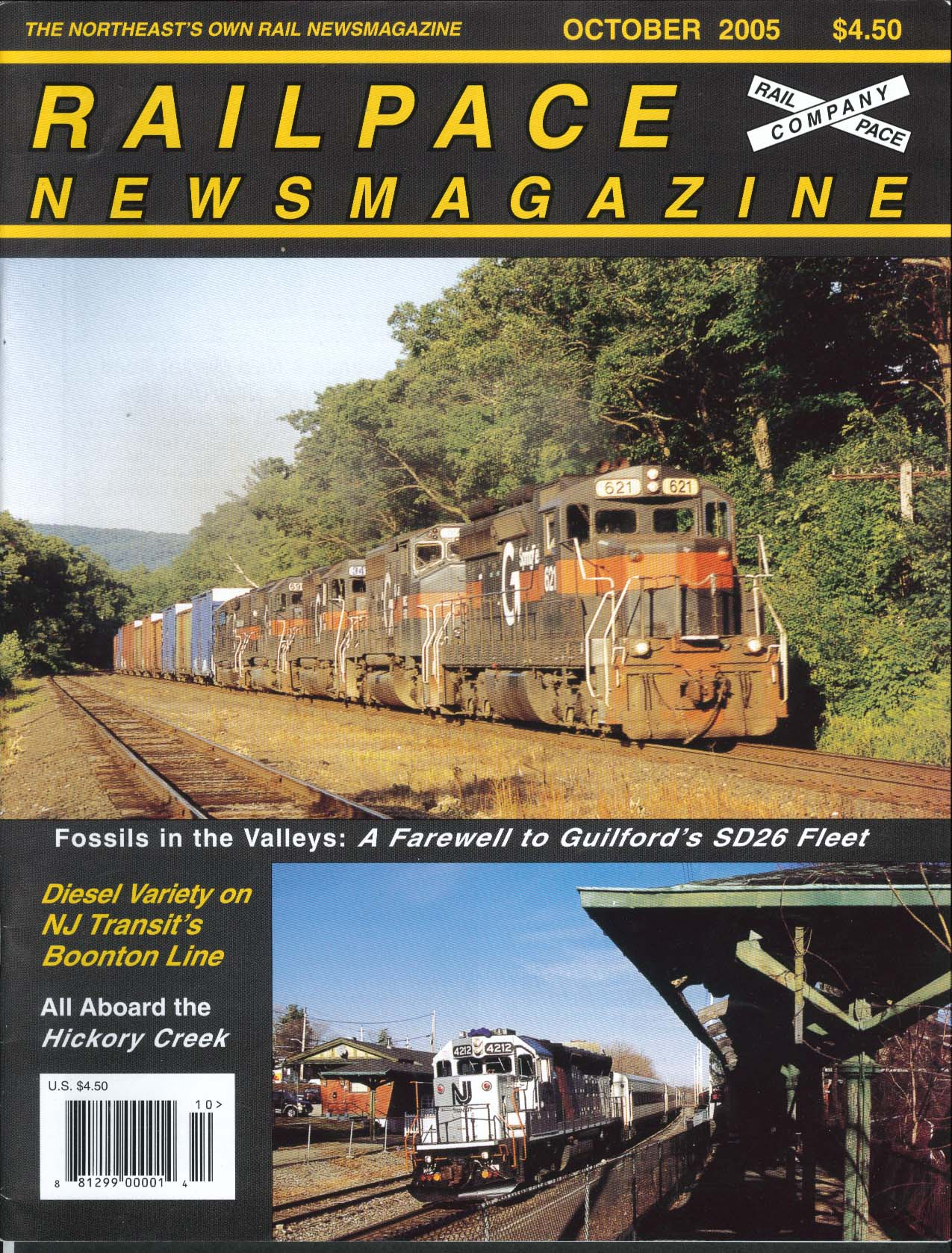 RAILPACE Guilford SD26 Diesel NJ Transit Boonton Line Hickory Creek 10 2005