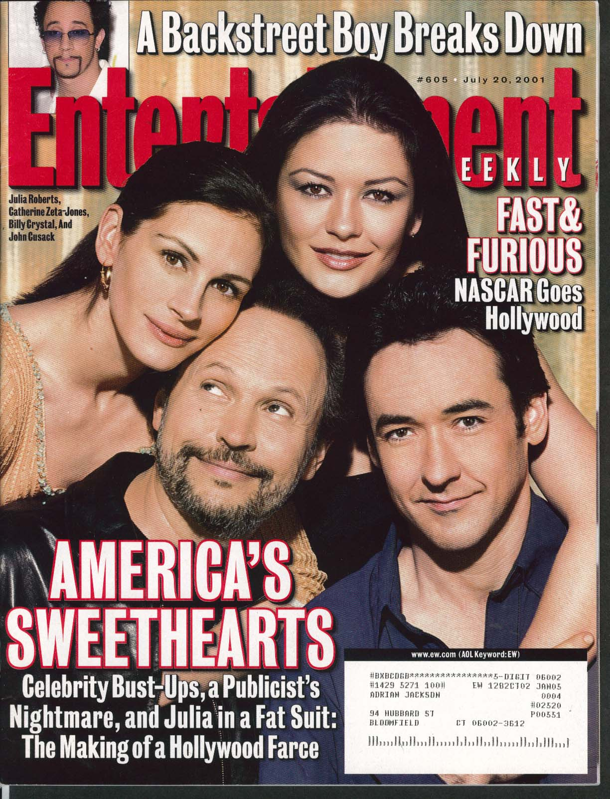 ENTERTAINMENT WEEKLY #605 Billy Crystal Julia Roberts Marlon Brando ++ 7/20 2001