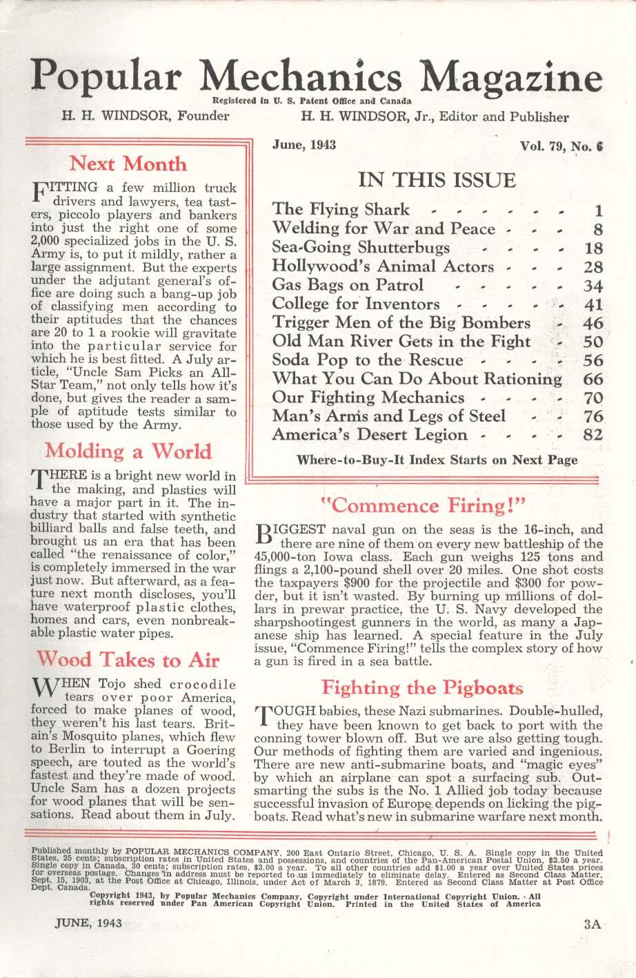 POPULAR MECHANICS Messerschmitt Hollywood Animal Wranglers ++ 6 1943