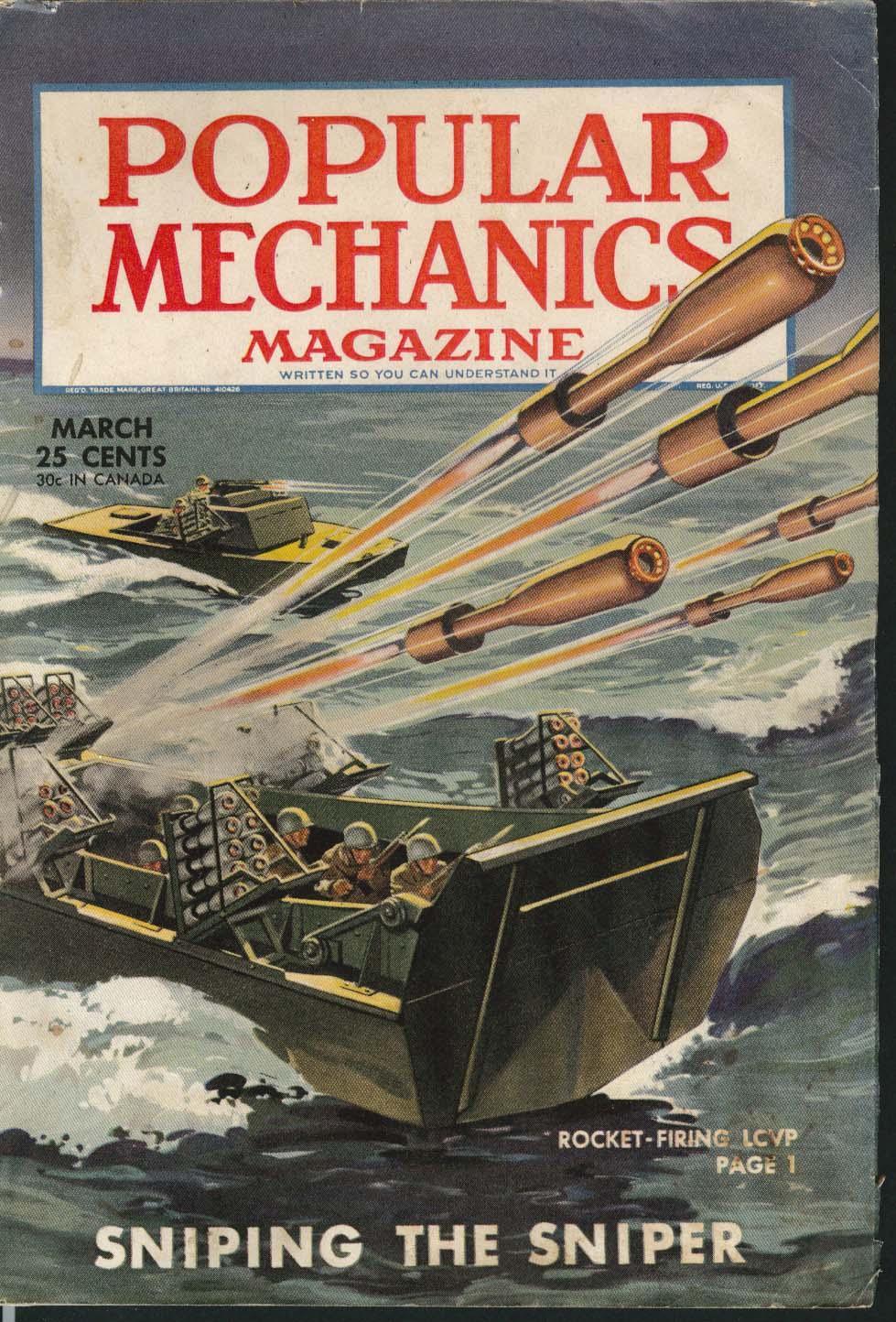 POPULAR MECHANICS Coast Guard Ice Crackers Bazooka Boats Black Gold ++ 3 1945