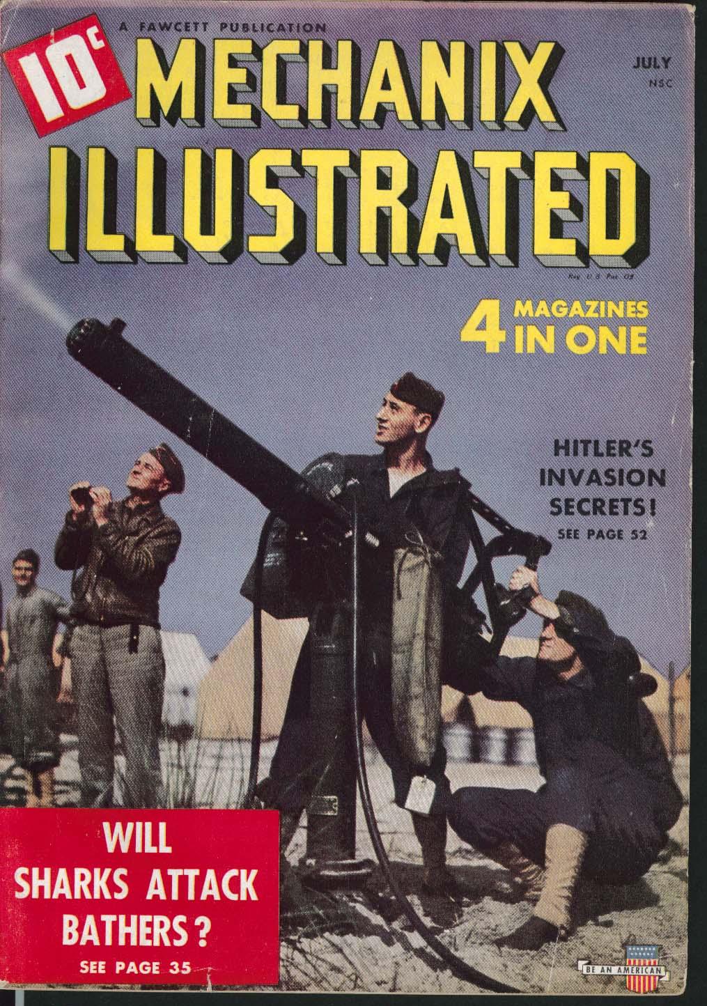 MECHANIX ILLUSTRATED Hitler's Invasion Secrets Bel Geddes Defense Careers 7 1941