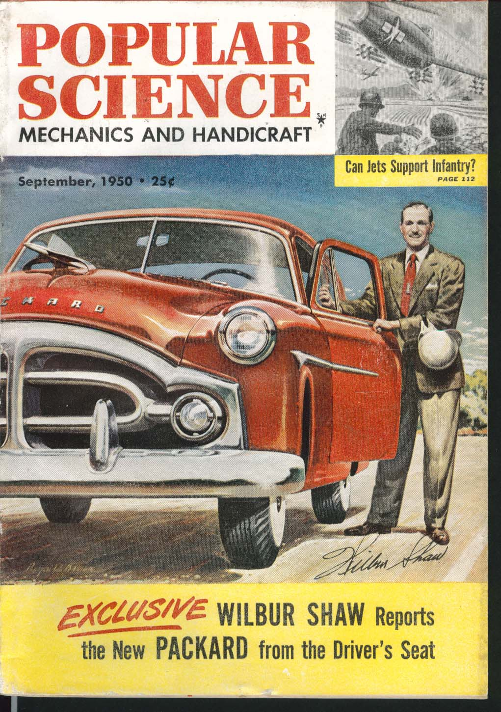 POPULAR SCIENCE Wilbur Shaw Packard road test Jets in Close Air Support 9 1950