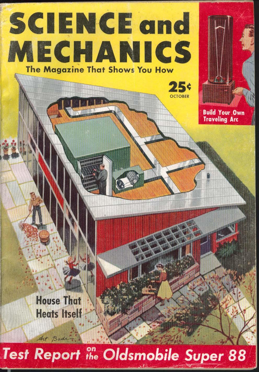 SCIENCE & MECHANICS Oldsmobile Super 88 road test seat belts save lives 10 1954