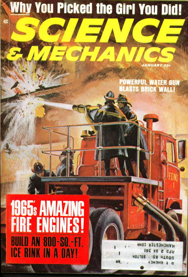 SCIENCE & MECHANICS 1965 Mercury Park Lane test 390-300hp; fire engines 1 1965