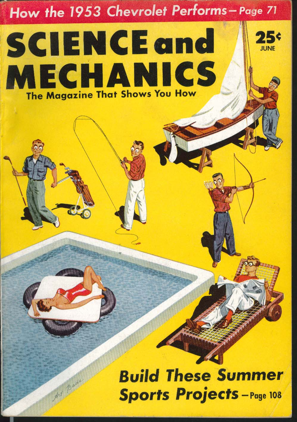 SCIENCE & MECHANICS Chevrolet Two-Ten De Soto Fire Dome 8 road tests 6 1953