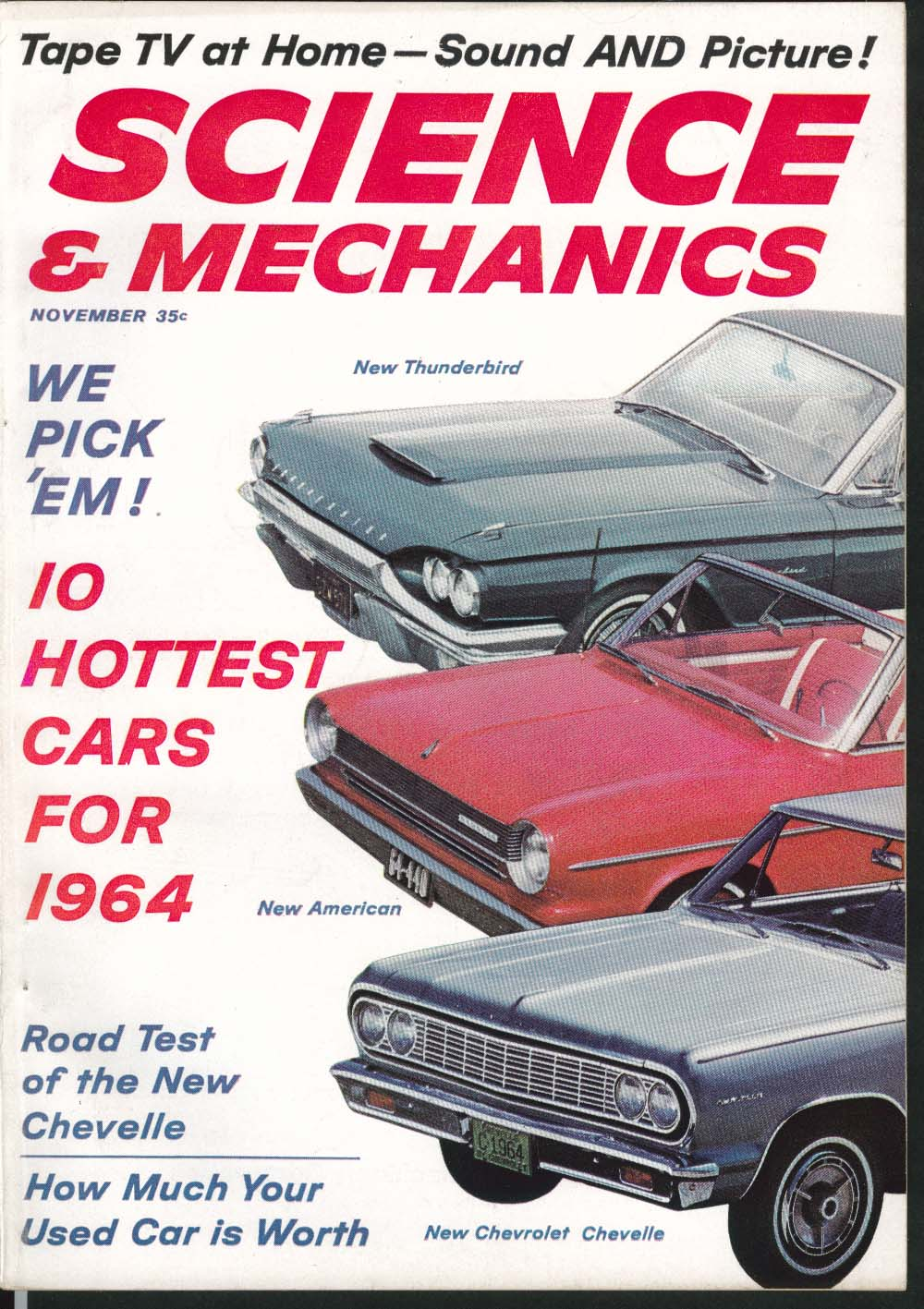 SCIENCE & MECHANICS Chevelle Ford Galaxie road tests Polaroid Automatic  11 1963