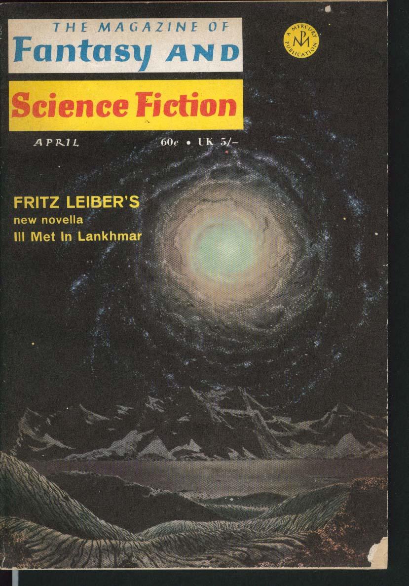 FANTASY & SCIENCE FICTION Fritz Leiber Neil Shapiro Isaac Asimov ++ 4 1970