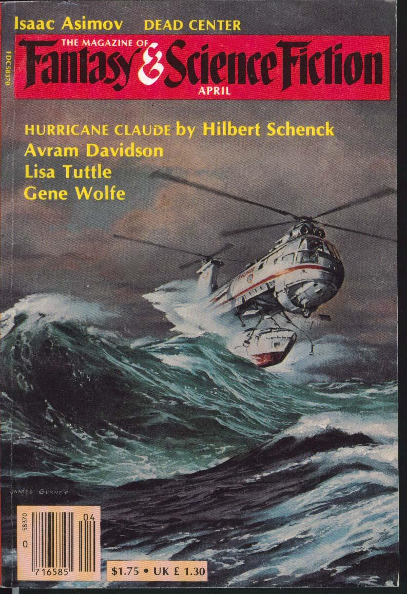 FANTASY & SCIENCE FICTION Isaac Asimov Hilbert Schenck Avram Davidson ++ 4 1983