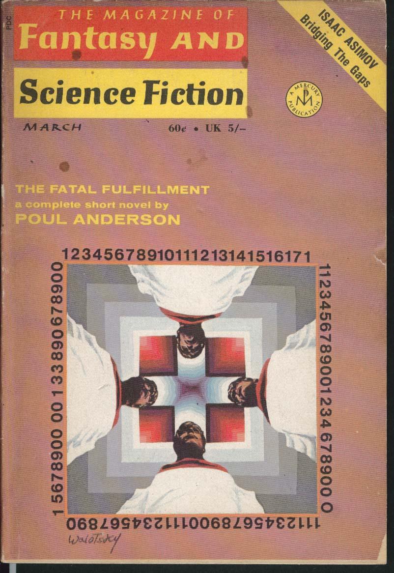 FANTASY & SCIENCE FICTION Isaac Asimov Poul Anderson Gahan Wilson ++ 3 1970