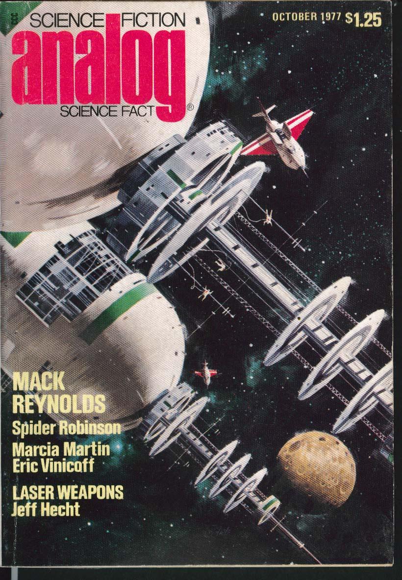 ANALOG Mack Reynolds Spider Robinson Marcia Martin Eric Vinicoff Hecht 10 1977