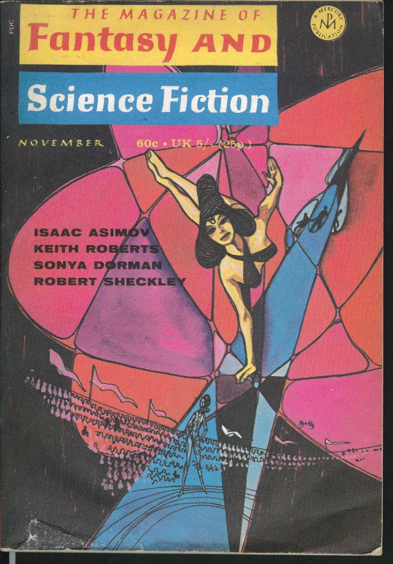 FANTASY & SCIENCE FICTION Isaac Asimov Keith Roberts Sonya Dorman 11 1970