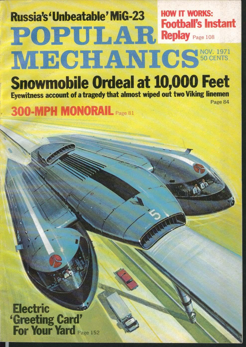 Image for POPULAR MECHANICS MiG-23 300mph Monorail Honda 600 Firefighting ++ 11 1971