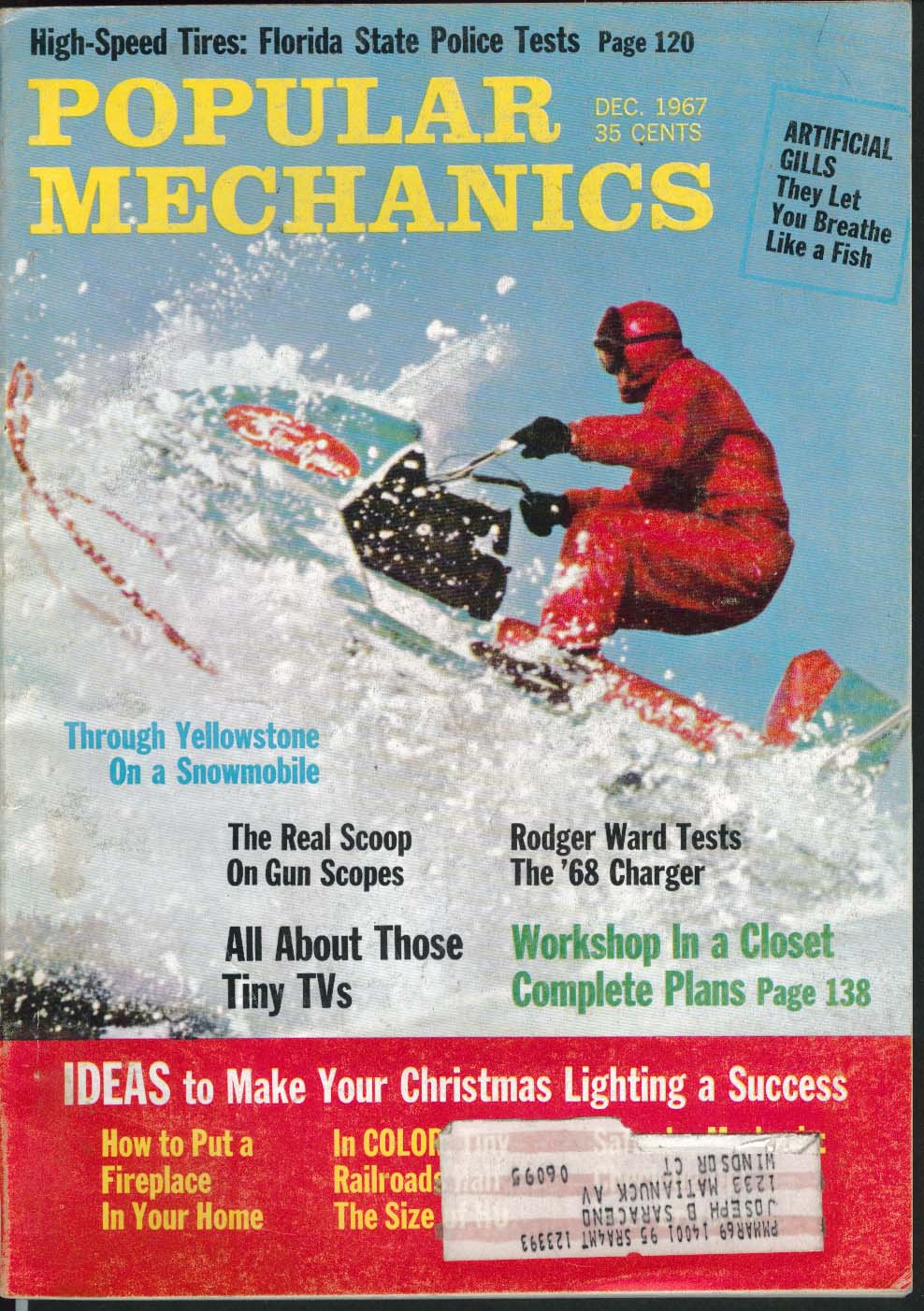 Image for POPULAR MECHANICS Rodger Ward 1968 Dodge Charger Yellowstone Snowmobile 12 1967