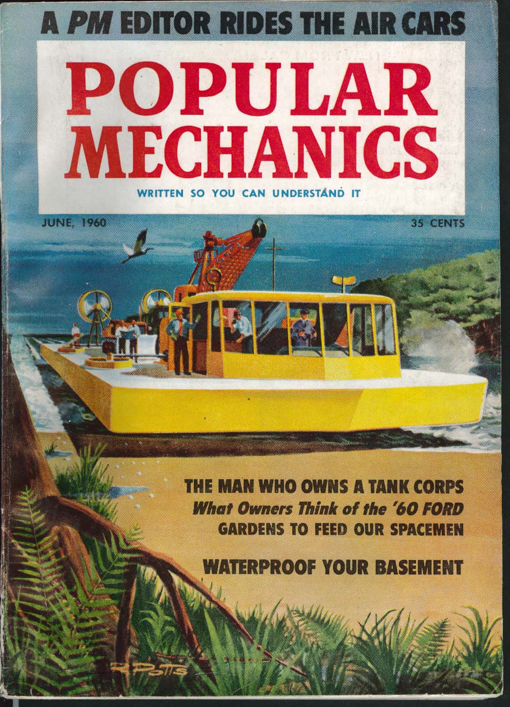 Image for POPULAR MECHANICS Ford road test Tank Corps Waterproof Basement Whales ++ 6 1960