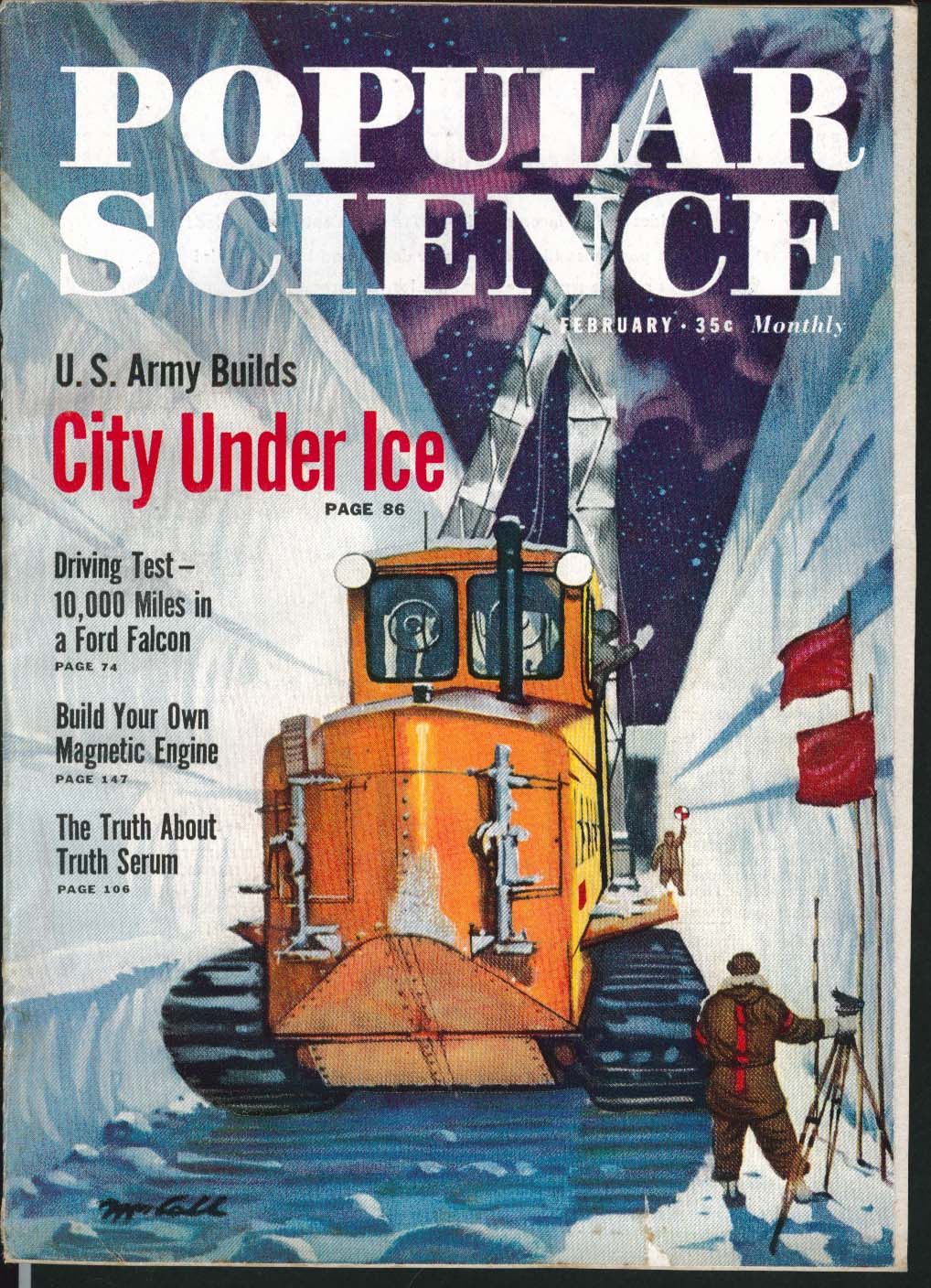 Image for POPULAR SCIENCE City Under Ice Ford Falcon Test Drive Truth Serum ++ 2 1960