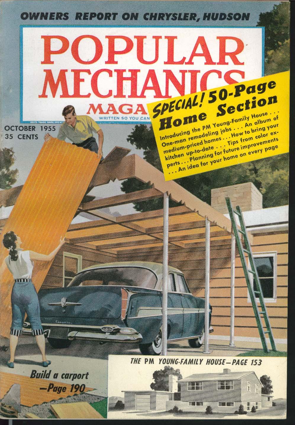 Image for POPULAR MECHANICS Chrysler Hudson Test Reports, Ford Mercury Styling ++ 10 1955